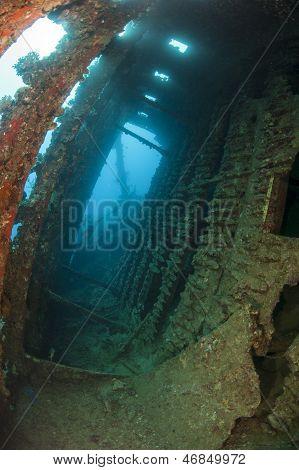 Interior Of An Underwater Shipwreck