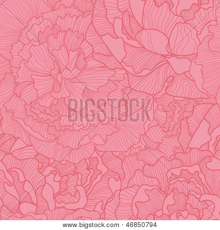 Bright floral seamless pattern in pink colors. Ideal for wedding invitations