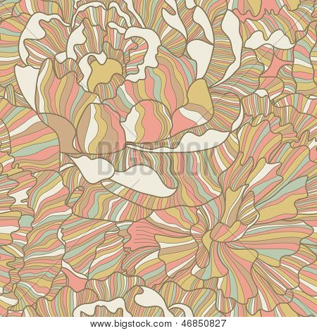 Romantic seamless pattern made of peony flowers in pastel colors. Seamless pattern can be used for wallpapers, pattern fills, web page backgrounds,surface textures. Gorgeous seamless floral background