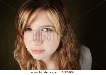 Skeptical Teenage Girl