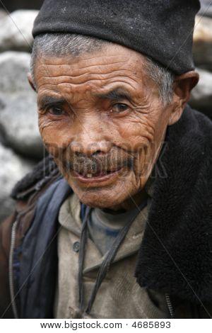 Wrinkled Old Man