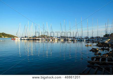 Sailing Boats In Greek Marine