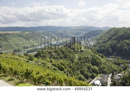 A View Of Mosel River And Kobern-gondorf In Germany