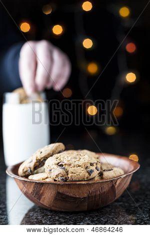 Choc Chip Cookies And Milk