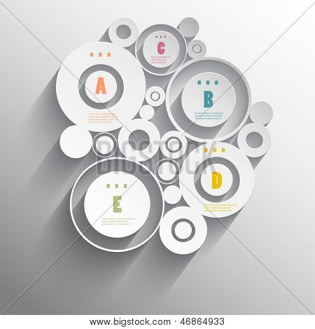 Modern design for infographics options background