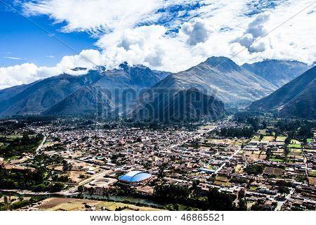 Urubamba City In Peru ,South America .