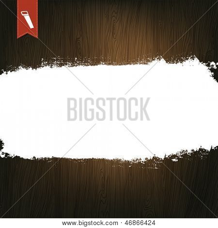 Wooden Background, With Space For Text. Raster version, vector file available in portfolio.