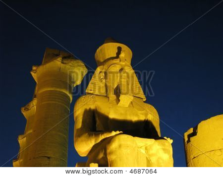 Ramses At  Luxor At Night