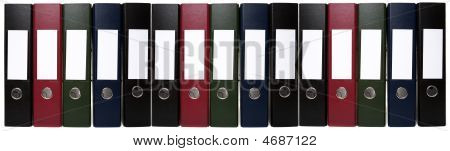 Long Chain Of Office Lever Arch Files