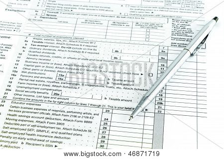 Tax Form 1040 For Tax Year