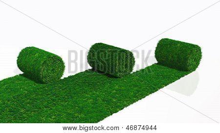 Three Rolls Of Grass Carpet