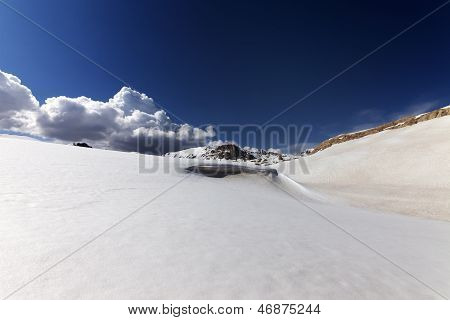 Snow Slope With Cornice