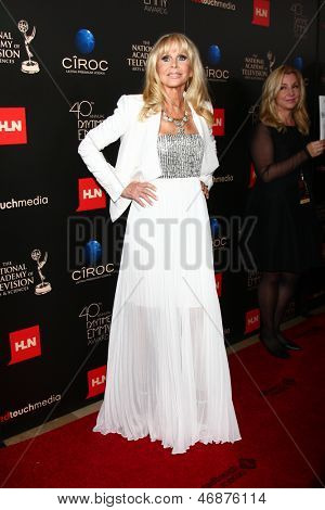 LOS ANGELES - JUN 16:  Britt Ekland arrives at the 40th Daytime Emmy Awards at the Skirball Cultural Center on June 16, 2013 in Los Angeles, CA