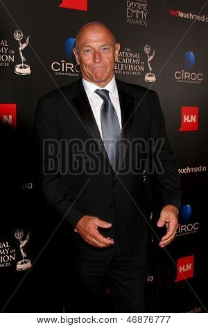 LOS ANGELES - JUN 16:  Corbin Bernsen arrives at the 40th Daytime Emmy Awards at the Skirball Cultural Center on June 16, 2013 in Los Angeles, CA