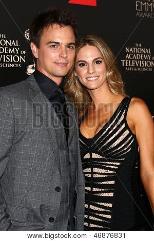 LOS ANGELES - JUN 16:  Darin Brooks, Kelly Kruger arrives at the 40th Daytime Emmy Awards at the Skirball Cultural Center on June 16, 2013 in Los Angeles, CA