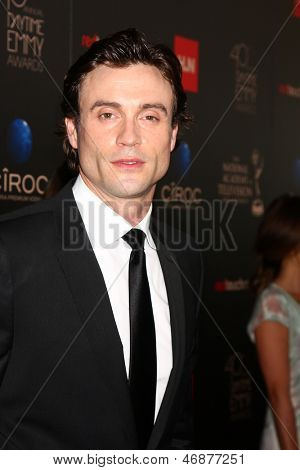 LOS ANGELES - JUN 16:  Daniel Goddard arrives at the 40th Daytime Emmy Awards at the Skirball Cultural Center on June 16, 2013 in Los Angeles, CA