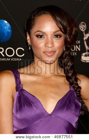 LOS ANGELES - JUN 16:  Sal Stowers arrives at the 40th Daytime Emmy Awards at the Skirball Cultural Center on June 16, 2013 in Los Angeles, CA