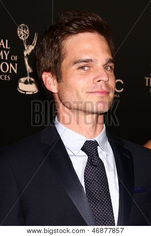 LOS ANGELES - JUN 16:  Greg Rikaart arrives at the 40th Daytime Emmy Awards at the Skirball Cultural Center on June 16, 2013 in Los Angeles, CA