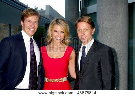 LOS ANGELES - JUN 15:  Jack Wagner, Linsey Godfrey, Brad Bell attend The LLS 2013 Gala at the Skirball Center on June 15, 2013 in Los Angeles, CA