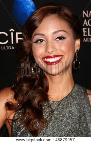 LOS ANGELES - JUN 16:  Lindsey Morgan arrives at the 40th Daytime Emmy Awards at the Skirball Cultural Center on June 16, 2013 in Los Angeles, CA