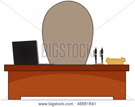 Cartoon Boss Desk