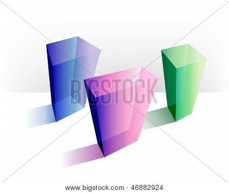 Presentation template rectangle graph.Infographics.