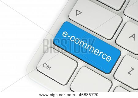 Blue e-commerce button