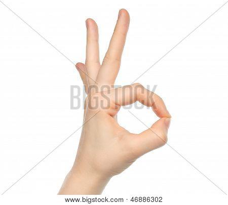 Hand OK sign