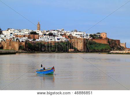 Morocco, Rabat, Medina and river
