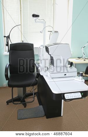 Interior of a oculist consulting room