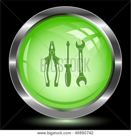 Tools. Internet button. Vector illustration.