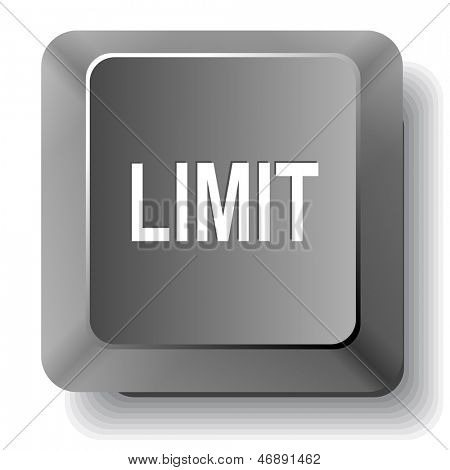 Limit. Vector computer key.