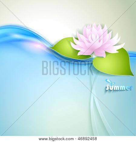 Card with stylized waterlily