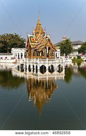 Bang Pa-in Aisawan Thipya-art (divine Seat Of Personal Freedom) At The Royal Summer Palace Near Bang