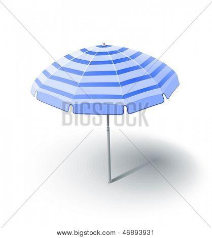 ilustração em vetor do pára-sol praia isolada no fundo branco EPS10. Opaci e objetos transparentes