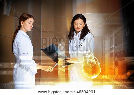 Two women doctors