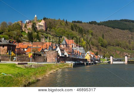 Town Of Hirschhorn Hesse Germany