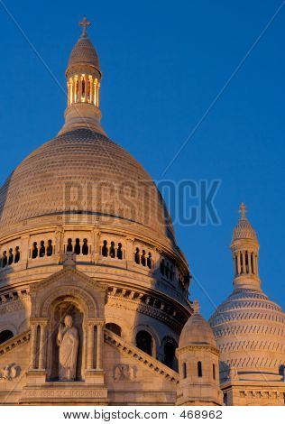 The Dome Of The Sacre Coeur At Twilight