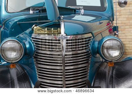 1938 Blue Chevy Coupe Close Up