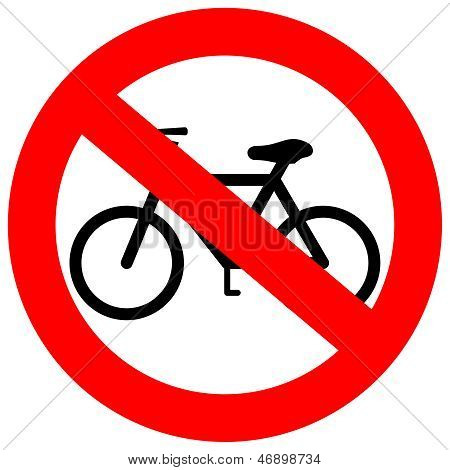 Vector sign no bicycle