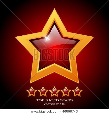 Review rating stars