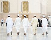 Muslim people visiting the holy places