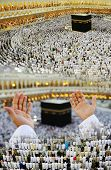 foto of mekah  - Composition on Hajj and visiting Kaaba in Mecca - JPG