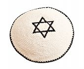 picture of israel israeli jew jewish  - Traditional jewish headwear with embroidered star of David - JPG