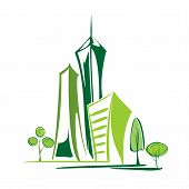 picture of greenhouse  - green city  environment and ecology cartoon vector  illustration - JPG