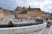 The Council square in Brasov, Romania