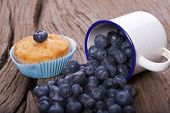 Blueberries And Muffin
