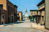 image of shacks  - a fake old town used as a movie stage - JPG