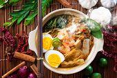 foto of malaysian food  - Prawn mee - JPG