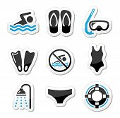 picture of speedo  - Sport black and blue labels set  - JPG